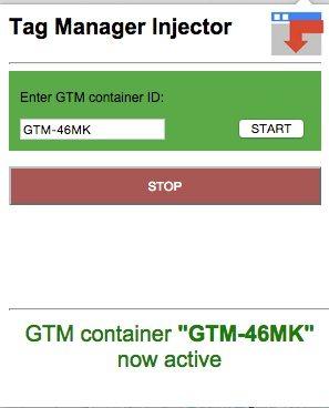 צילום מסך של tag manager injector