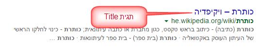 דוגמה לטייטל של ויקיפדיה
