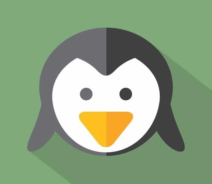 Modern Flat Design Penguin Icon Vector Illustration